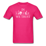 """In Science We Trust"" (white) - Men's T-Shirt fuchsia / S - LabRatGifts - 10"