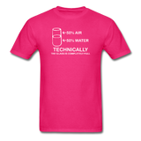 """Technically the Glass is Full"" - Men's T-Shirt fuchsia / S - LabRatGifts - 9"