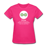"""Biology Division"" - Women's T-Shirt fuchsia / S - LabRatGifts - 5"