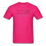 """Think like a Proton"" (black) - Men's T-Shirt fuchsia / S - LabRatGifts - 6"