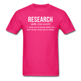 """Research"" (white) - Men's T-Shirt fuchsia / S - LabRatGifts - 9"