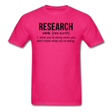 """Research"" (black) - Men's T-Shirt fuchsia / S - LabRatGifts - 6"