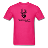 """Albert Einstein: T-Shirts Quote"" - Men's T-Shirt fuchsia / S - LabRatGifts - 11"