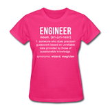 """Engineer"" (white) - Women's T-Shirt fuchsia / S - LabRatGifts - 3"