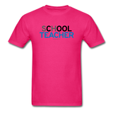 """sChOOL Teacher"" - Men's T-Shirt fuchsia / S - LabRatGifts - 2"