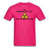 """My Radioactive Cat has 18 Half-Lives"" - Men's T-Shirt fuchsia / S - LabRatGifts - 2"