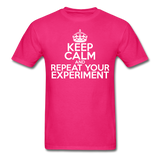 """Keep Calm and Repeat Your Experiment"" (white) - Men's T-Shirt fuchsia / S - LabRatGifts - 4"
