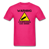 """Warning Compressed Gas Inside"" - Men's T-Shirt fuchsia / S - LabRatGifts - 2"