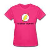 """Faster than 186,282 MPS"" - Women's T-Shirt fuchsia / S - LabRatGifts - 4"