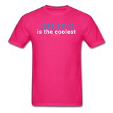"""-273.15 ºC is the Coolest"" (white) - Men's T-Shirt fuchsia / S - LabRatGifts - 2"