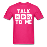 """Talk NErDy To Me"" (white) - Men's T-Shirt fuchsia / S - LabRatGifts - 15"