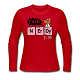 """Talk Nerdy to Me"" - Women's Long Sleeve T-Shirt red / S - LabRatGifts - 4"