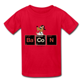 """Bacon Periodic Table"" - Kids T-Shirt red / XS - LabRatGifts - 3"