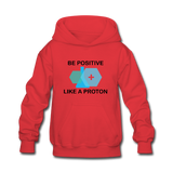 """Be Positive"" (black) - Kids' Sweatshirt red / S - LabRatGifts - 4"
