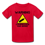 """Warning Compressed Gas Inside"" - Kids' T-Shirt red / XS - LabRatGifts - 1"