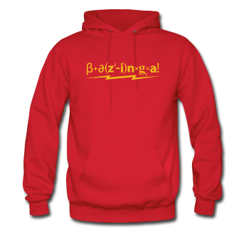 """Bazinga!"" - Men's Sweatshirt red / S - LabRatGifts - 1"