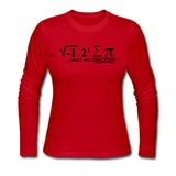 """I Ate Some Pie"" (black) - Women's Long Sleeve T-Shirt red / S - LabRatGifts - 4"