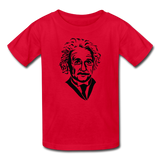 """Albert Einstein"" - Kids' T-Shirt red / XS - LabRatGifts - 4"