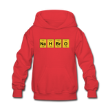 """NaH BrO"" - Kids' Sweatshirt red / S - LabRatGifts - 2"