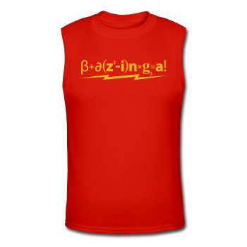 """Bazinga!"" - Men's Muscle T-Shirt red / S - LabRatGifts - 1"