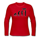 """Stop Following Me"" - Women's Long Sleeve T-Shirt red / S - LabRatGifts - 5"