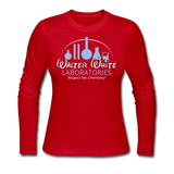 """Walter White Laboratories"" - Women's Long Sleeve T-Shirt red / S - LabRatGifts - 3"