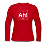 """Ah! The Element of Surprise"" - Women's Long Sleeve T-Shirt red / S - LabRatGifts - 3"