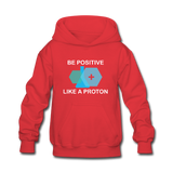 """Be Positive"" (white) - Kids' Sweatshirt red / S - LabRatGifts - 6"