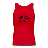 """In Science We Trust"" (black) - Women's Tank Top red / S - LabRatGifts - 6"