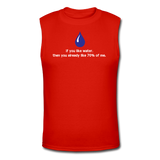 """If You Like Water"" - Men's Muscle T-Shirt red / S - LabRatGifts - 3"