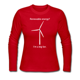 """I'm a Big Fan"" - Women's Long Sleeve T-Shirt red / S - LabRatGifts - 4"