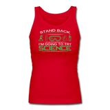 """Stand Back"" - Women's Tank Top red / S - LabRatGifts - 5"