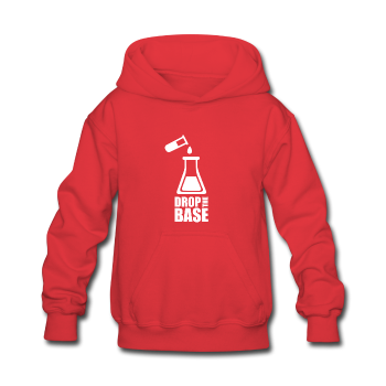 """Drop the Base"" (white) - Kids' Sweatshirt red / S - LabRatGifts - 1"