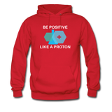 """Be Positive"" (white) - Men's Sweatshirt red / S - LabRatGifts - 7"