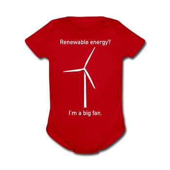 """I'm a Big Fan"" - Baby Short Sleeve One Piece red / Newborn - LabRatGifts - 1"