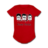 """Heavy Metals"" - Baby Short Sleeve One Piece red / Newborn - LabRatGifts - 6"