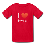 """I ♥ Physics"" (white) - Kids' T-Shirt red / XS - LabRatGifts - 5"