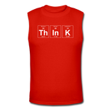 """ThInK"" (white) - Men's Muscle T-Shirt red / S - LabRatGifts - 3"