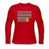 """Na Na Na Batmanium"" - Women's Long Sleeve T-Shirt red / S - LabRatGifts - 5"