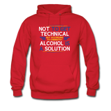 """Technically Alcohol is a Solution"" - Men's Sweatshirt red / S - LabRatGifts - 6"