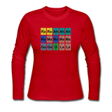 """Lady Gaga Periodic Table"" - Women's Long Sleeve T-Shirt red / S - LabRatGifts - 5"