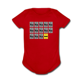 """Na Na Na Batmanium"" - Baby Short Sleeve One Piece red / Newborn - LabRatGifts - 6"