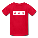 """BaCoN"" - Kids' T-Shirt red / XS - LabRatGifts - 5"
