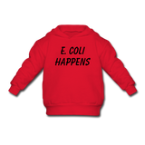 """E. Coli Happens"" (black) - Toddler Sweatshirt red / 2 Toddler - LabRatGifts - 2"