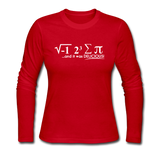 """I Ate Some Pie"" (white) - Women's Long Sleeve T-Shirt red / S - LabRatGifts - 4"