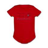 """Think like a Proton"" (black) - Baby Short Sleeve One Piece red / Newborn - LabRatGifts - 6"