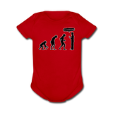 """Stop Following Me"" - Baby Short Sleeve One Piece red / Newborn - LabRatGifts - 6"