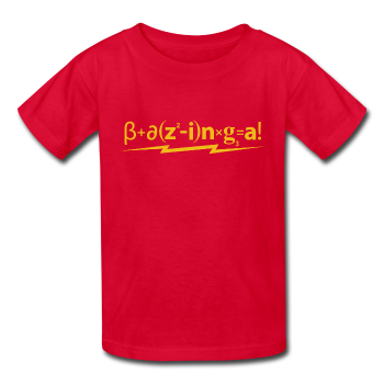 """Bazinga!"" - Kids' T-Shirt red / XS - LabRatGifts - 1"
