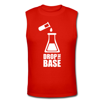 """Drop the Base"" - Men's Muscle T-Shirt red / S - LabRatGifts - 1"