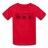 """ThInK"" (black) - Kids' T-Shirt red / XS - LabRatGifts - 4"